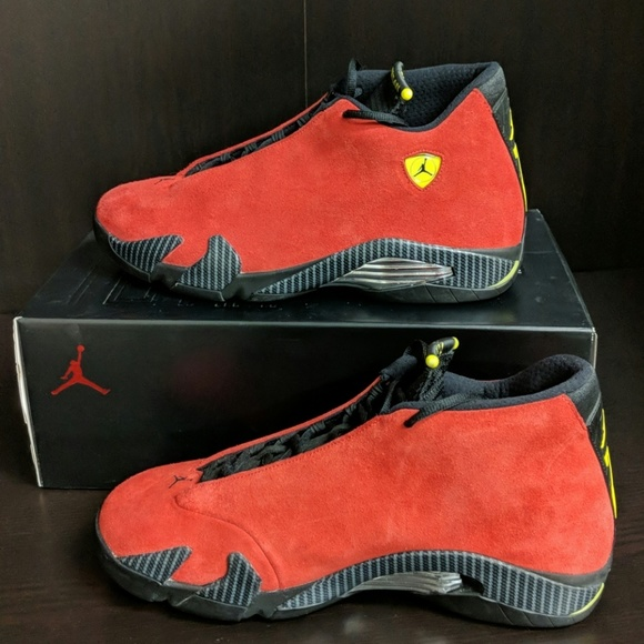 3b83b2166d02 ... real air jordan 14 retro ferrari gently used 53168 fae8d